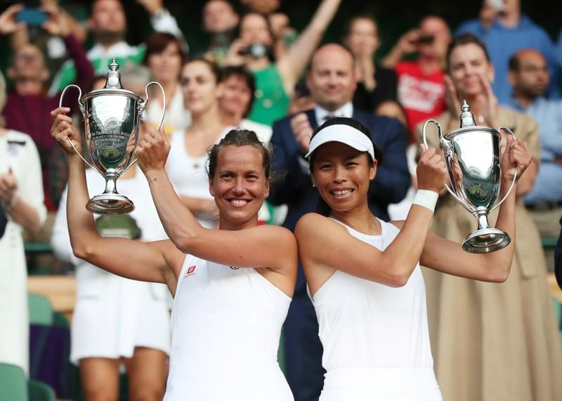 Strycova and Hsieh take Wimbledon women's doubles title