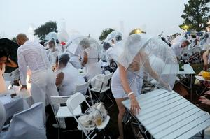 NYC's Diner En Blanc rained out