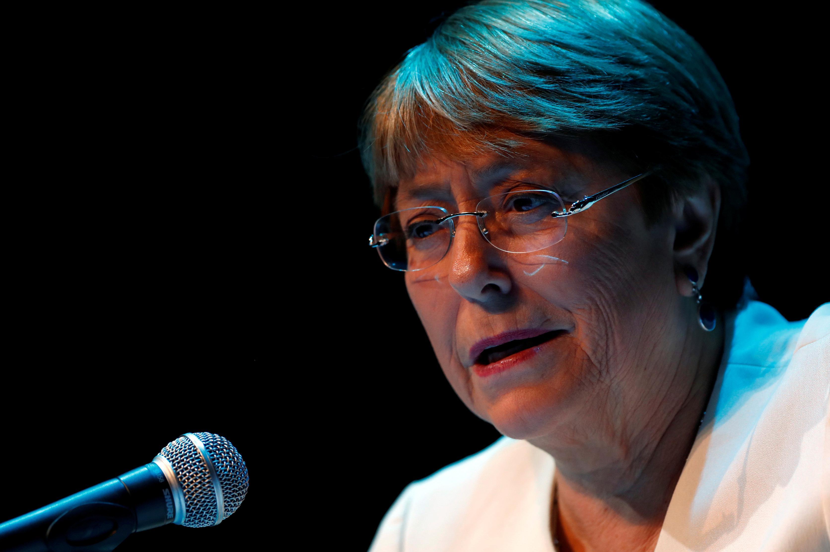 U.N.'s Bachelet says Congresswomen opposing Trump are 'fantastic'