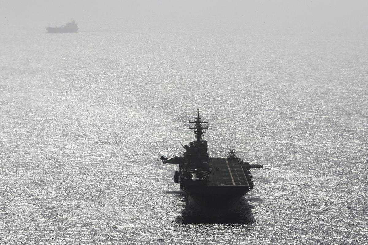 U.S. says Navy ship 'destroyed' Iranian drone in Gulf