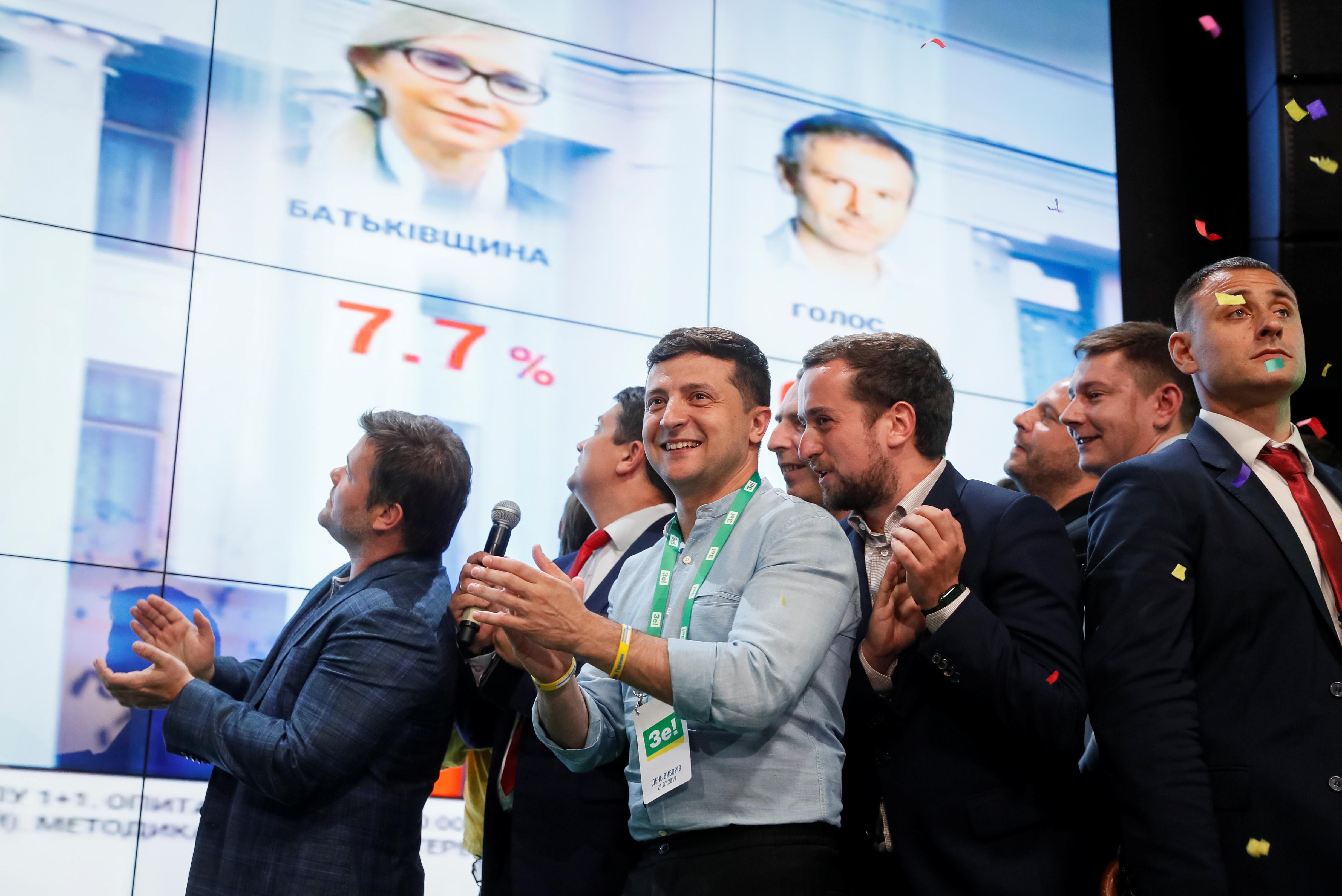 Le président ukrainien en passe de remporter les élections législatives