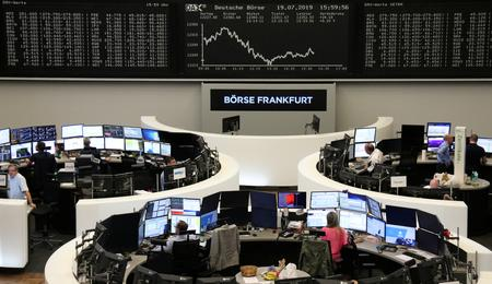Europe stocks gain; oil jumps on Middle East tensions
