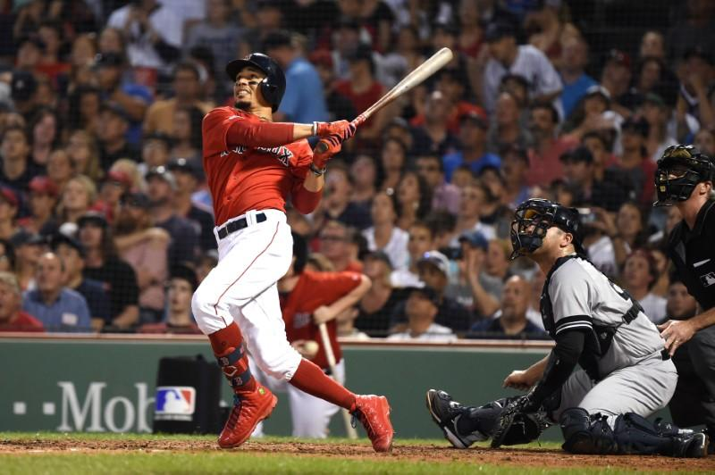 MLB roundup: Red Sox's Betts belts 3 HRs to beat Yanks