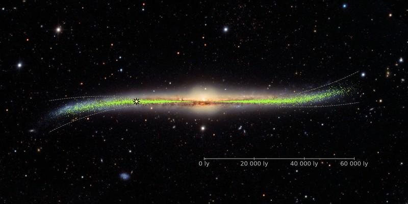 Sterrekundiges vind dat Melkweg 'n verwronge en verdraaide sterrestelsel is