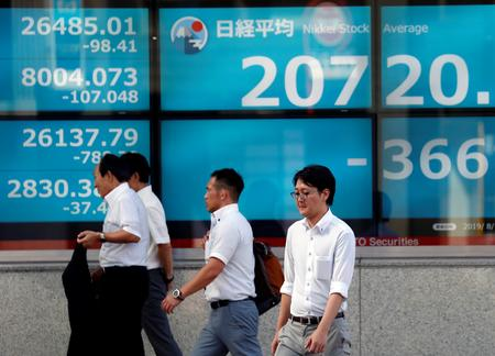 Stock losses steepen as U.S. puts yuan in crosshairs