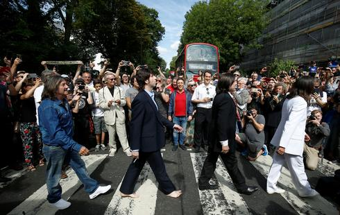 Fans mark 50th anniversary of Beatles' iconic Abbey Road cover