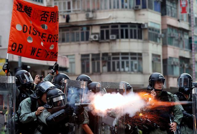 Image result for Hong Kong police and protesters refine battle tactics