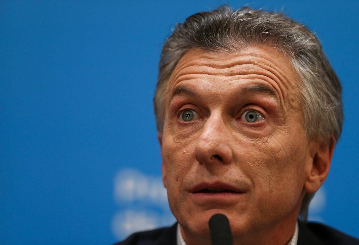 Macri vows to win second term after Argentine peso crashes on...