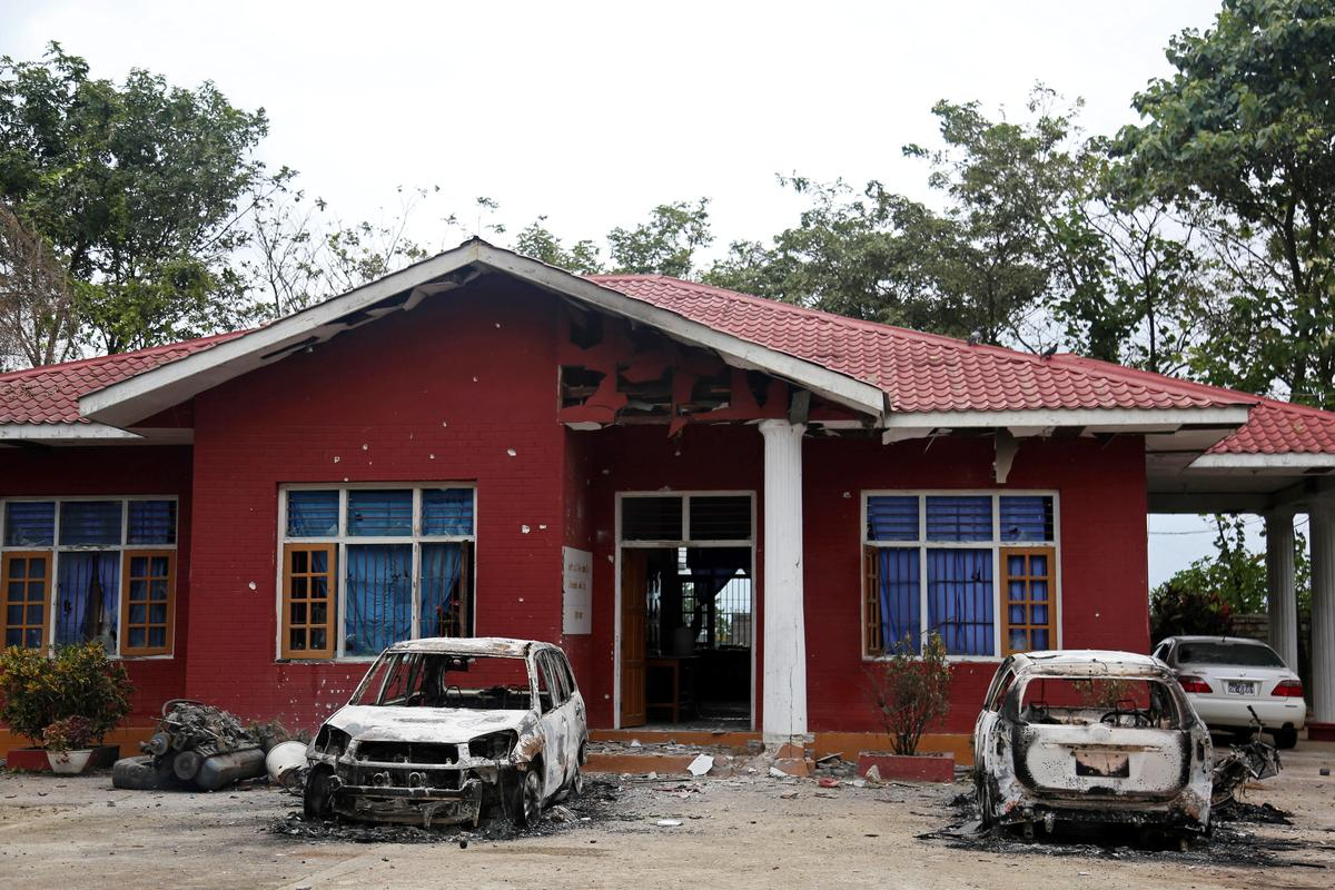 Myanmar insurgents attack elite military college, other targets; 15 killed
