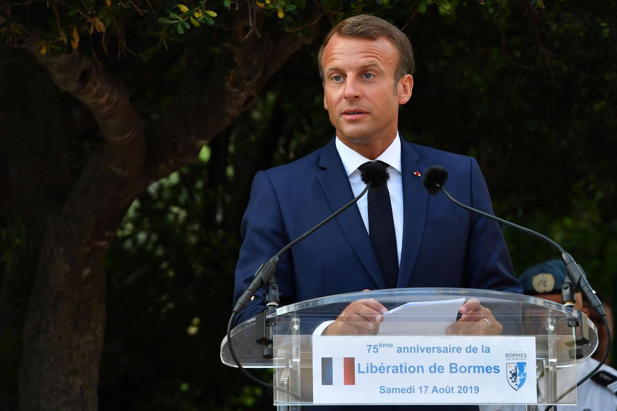 Macron sal Donderdag Brexit met premier Johnson bespreek