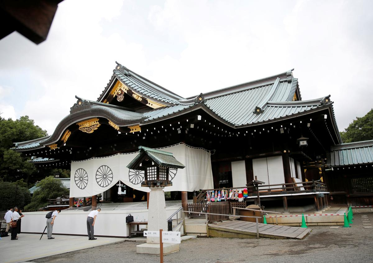 Japan shrine for war dead vandalised by man claiming to be Chinese