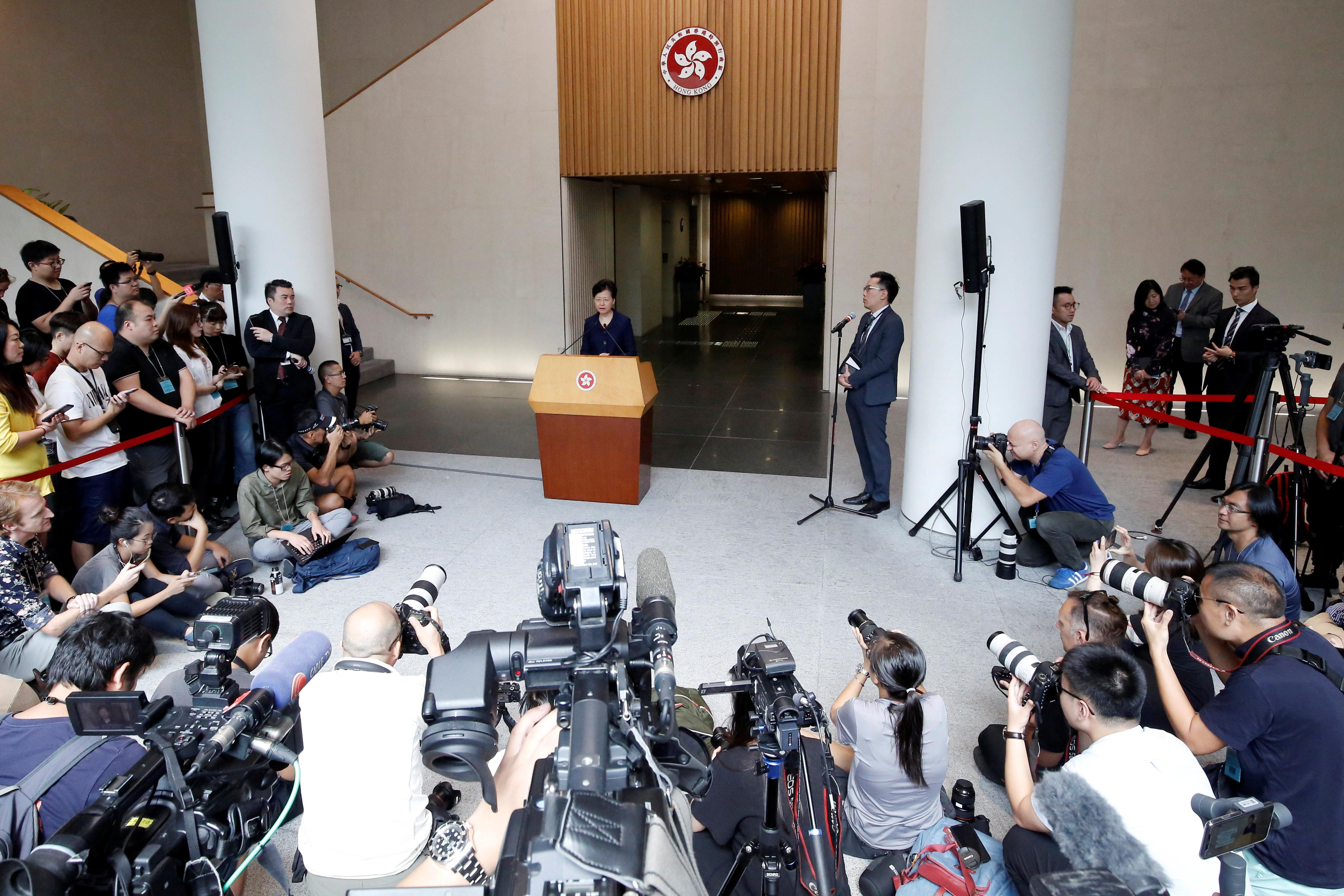 Hong Kong leader sees 'way out' of chaos after peaceful protest