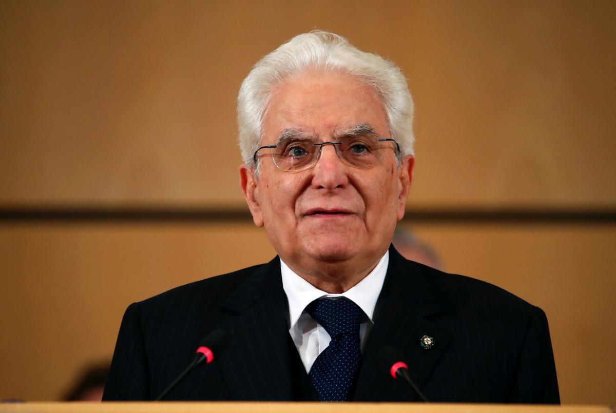 Italië se president het Woensdag die partyhoofde tydens die regeringskrisis gesien