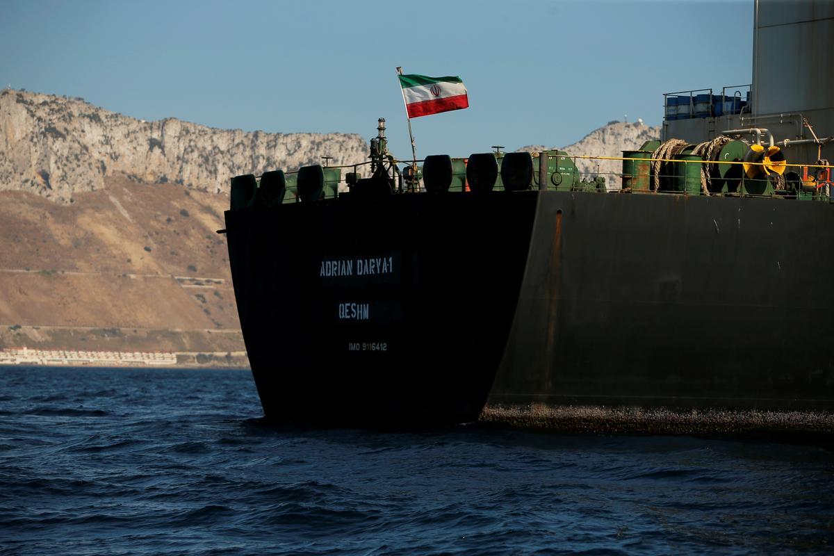 Die Iraanse nuusagentskap sê Adrian Darya 1-tenkwa wat aan Revolutionary Guards verhuur is