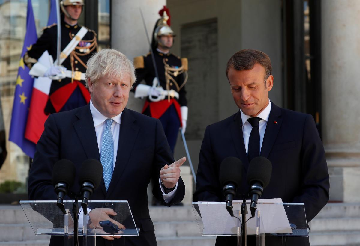 Hoogtepunte: Britse premier Johnson op Brexit tydens 'n ontmoeting met Macron