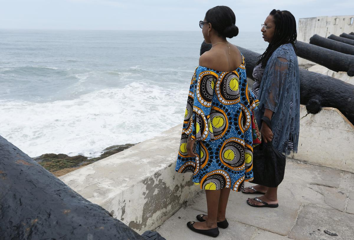 An African American mother and daughter journey to their family's past in Ghana