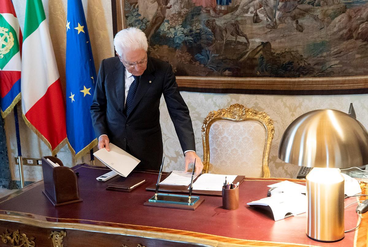 Italië-president Mattarella praat om 1800 GMT oor regeringskrisis: woordvoerder