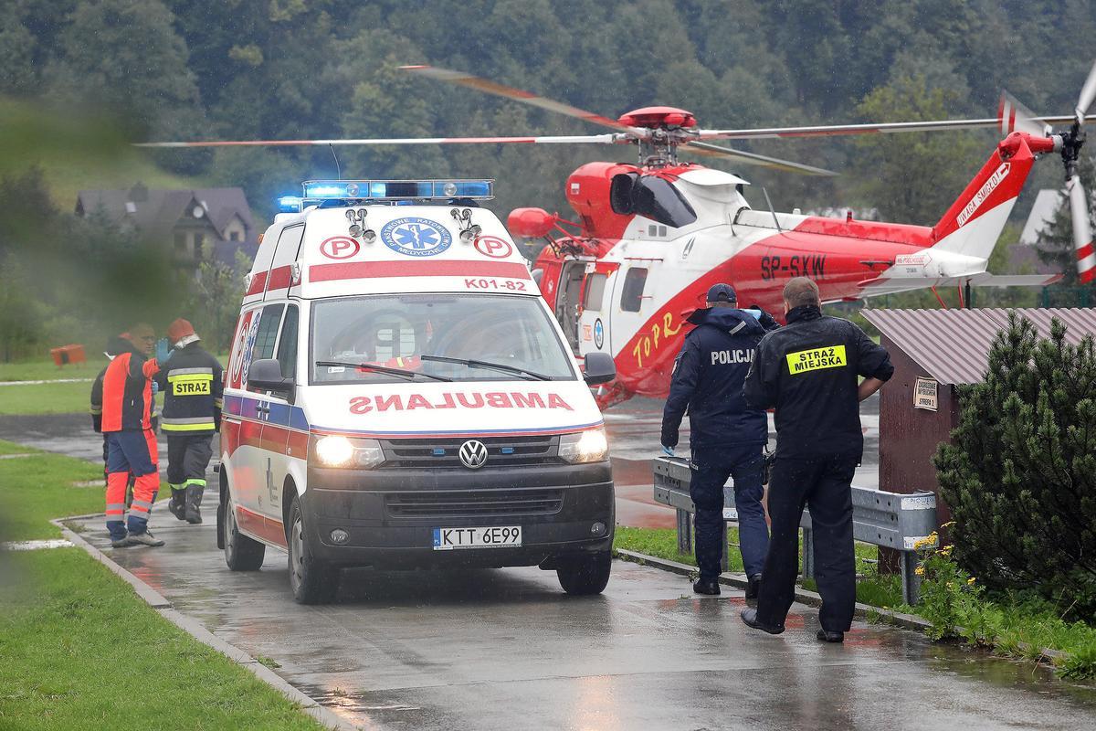 Vier sterf, meer as 100 beseer in die donderstorm in die Tatra-berge in Pole