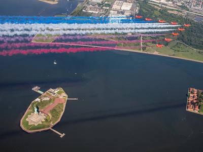 Aerial parade over New York City
