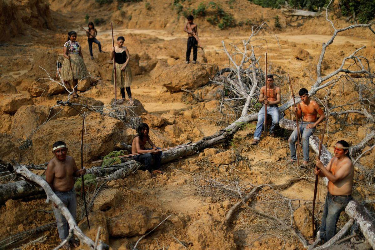 Brazil's indigenous people swear to fight for Amazon 'to last drop...
