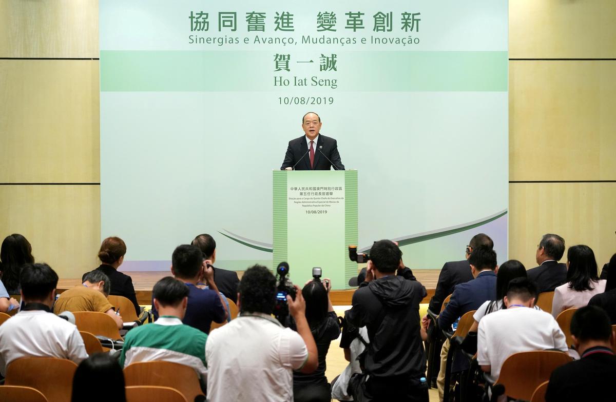 Dobbelknop Macau verkies die man met die steun van Beijing as leier