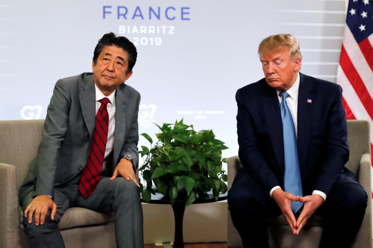 Trump, Abe is in stryd met die raket van Noord-Korea