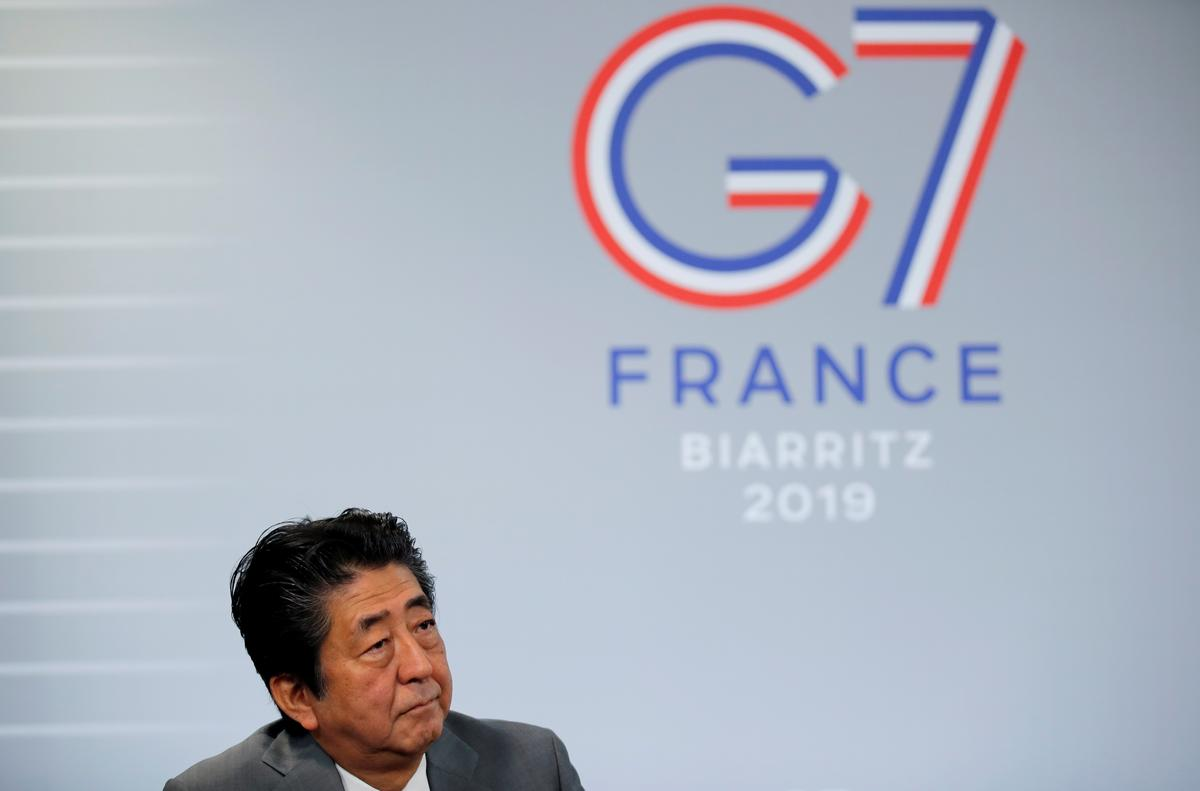 Japan PM Abe: G7 must unify in its response to downside economic...