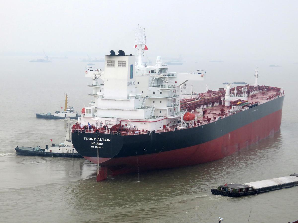 Frontline se ontploffende olietenkskip is in die vierde kwartaal in werking gestel