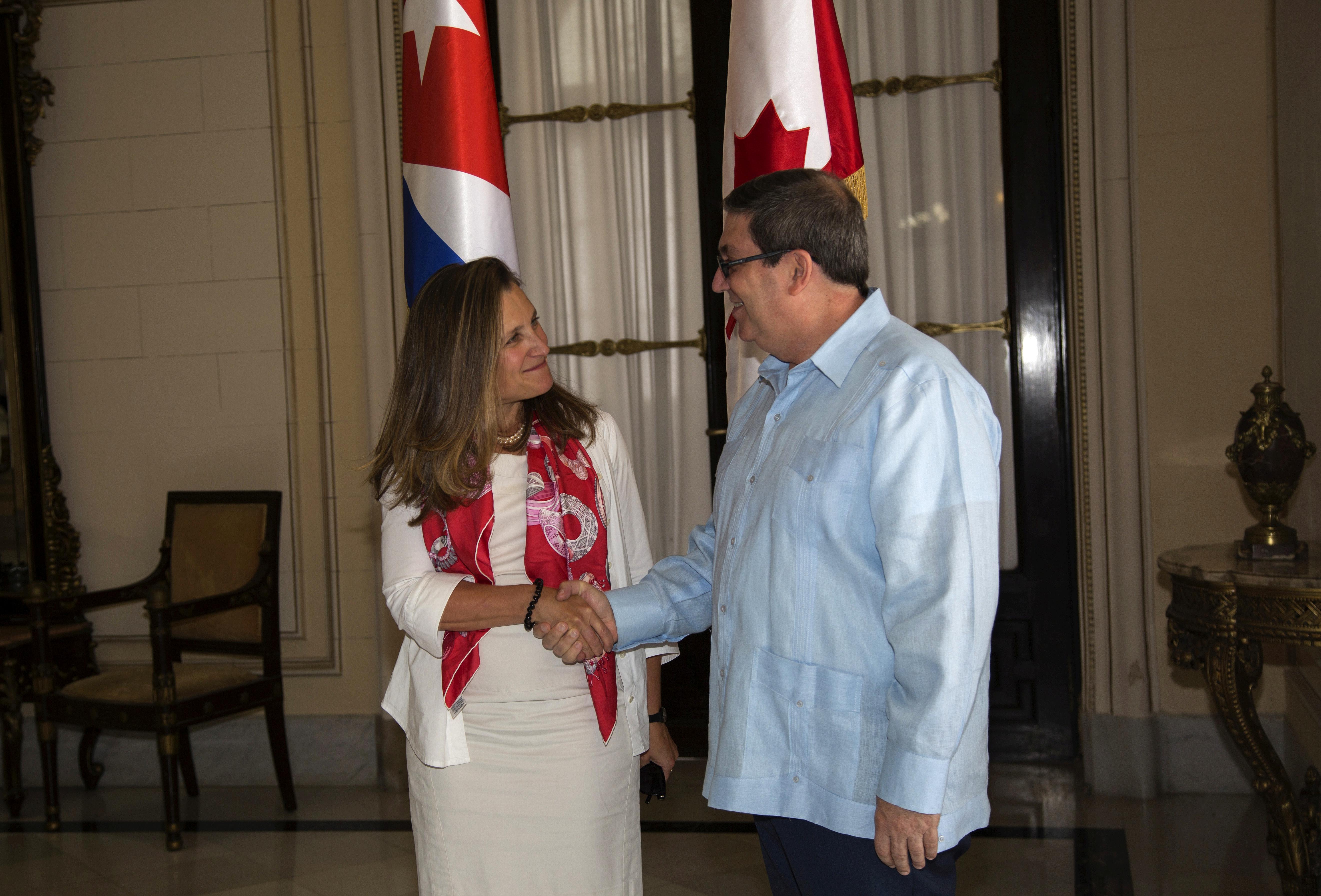 Cuba asks Canada to help end U.S. sanctions on Venezuela
