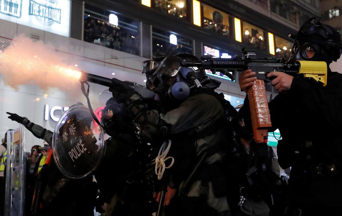 Hong Kong protests turn to chaos amid tear gas and petrol bombs