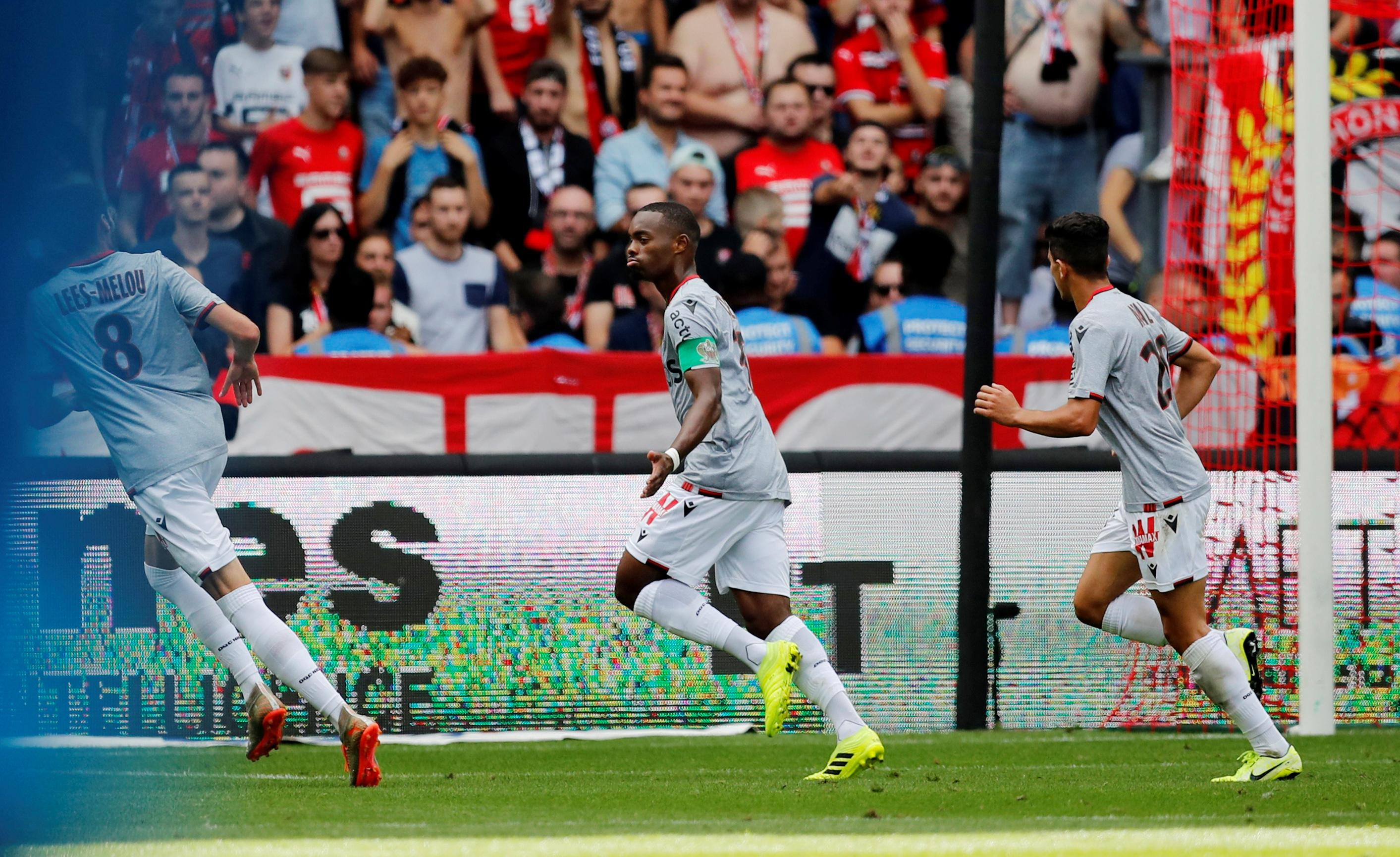 Rennes' perfect record ended with home defeat by Nice