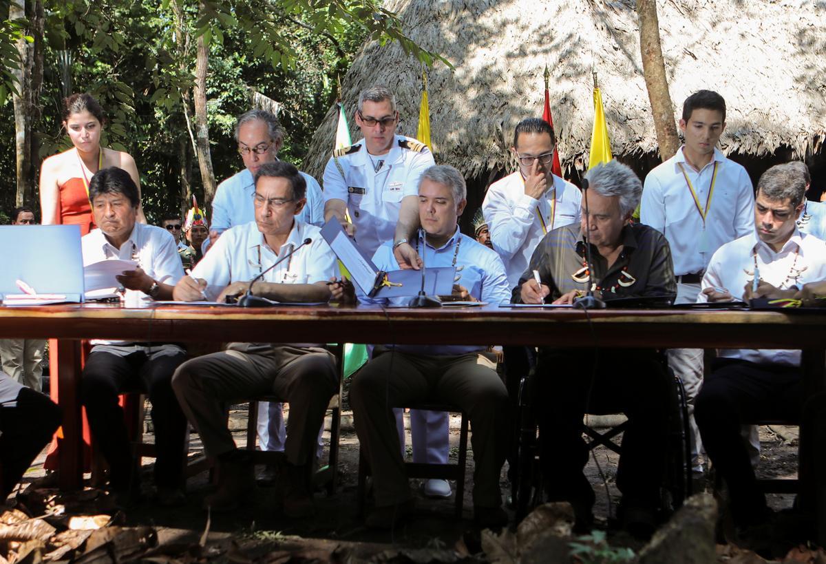 Amazon-lande onderteken 'n woudooreenkoms en belowe om ramprespons te koördineer