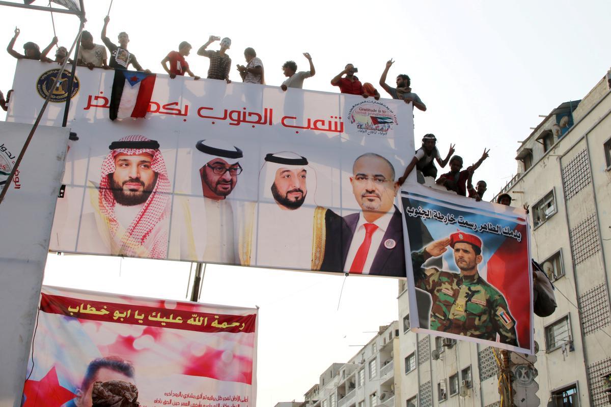 Saoedi-Arabië, UAE doen 'n beroep op die Jemen-regering en separatiste om gevegte te staak