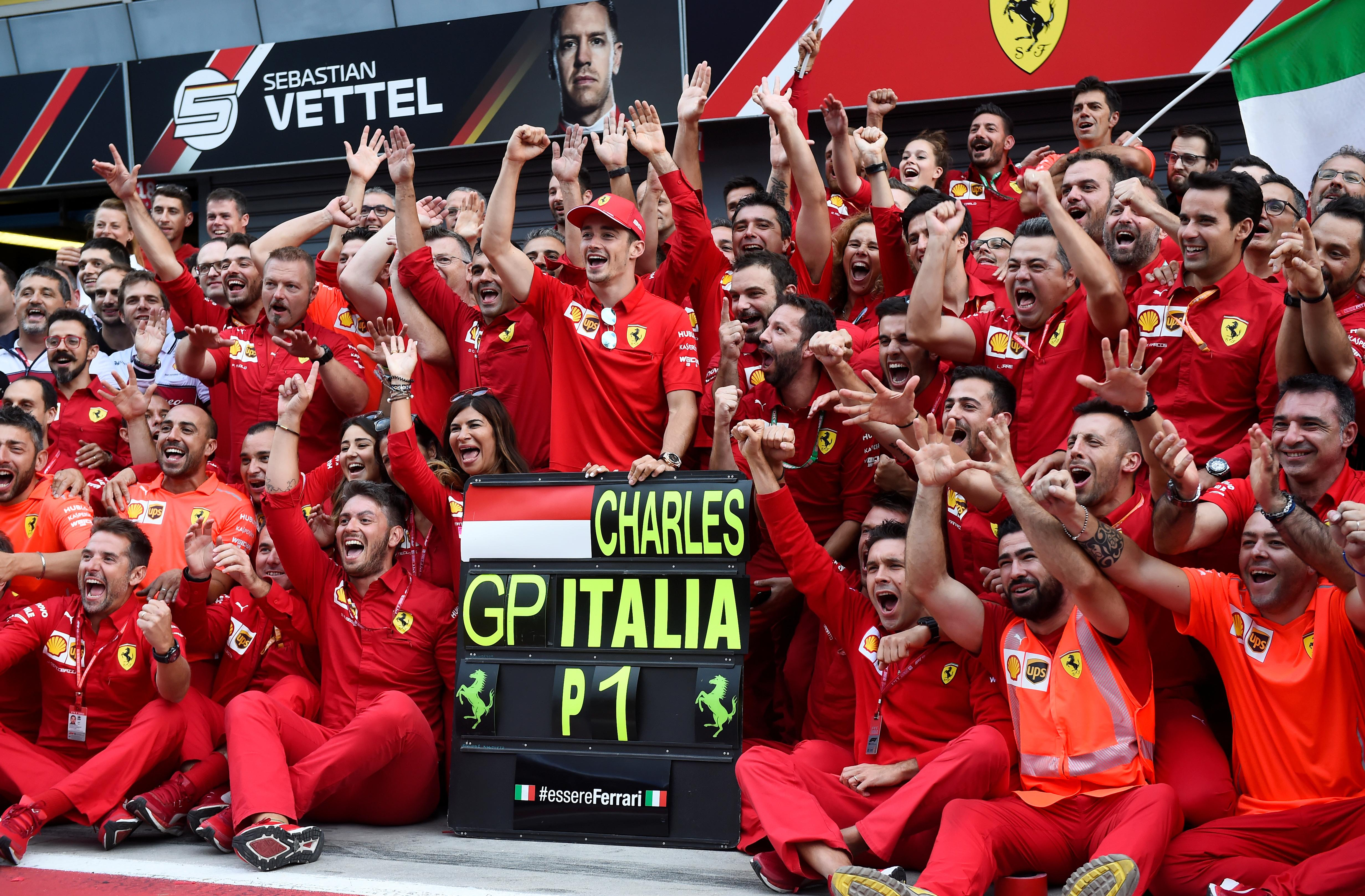 Leclerc triggers Ferrari frenzy with Italian GP win