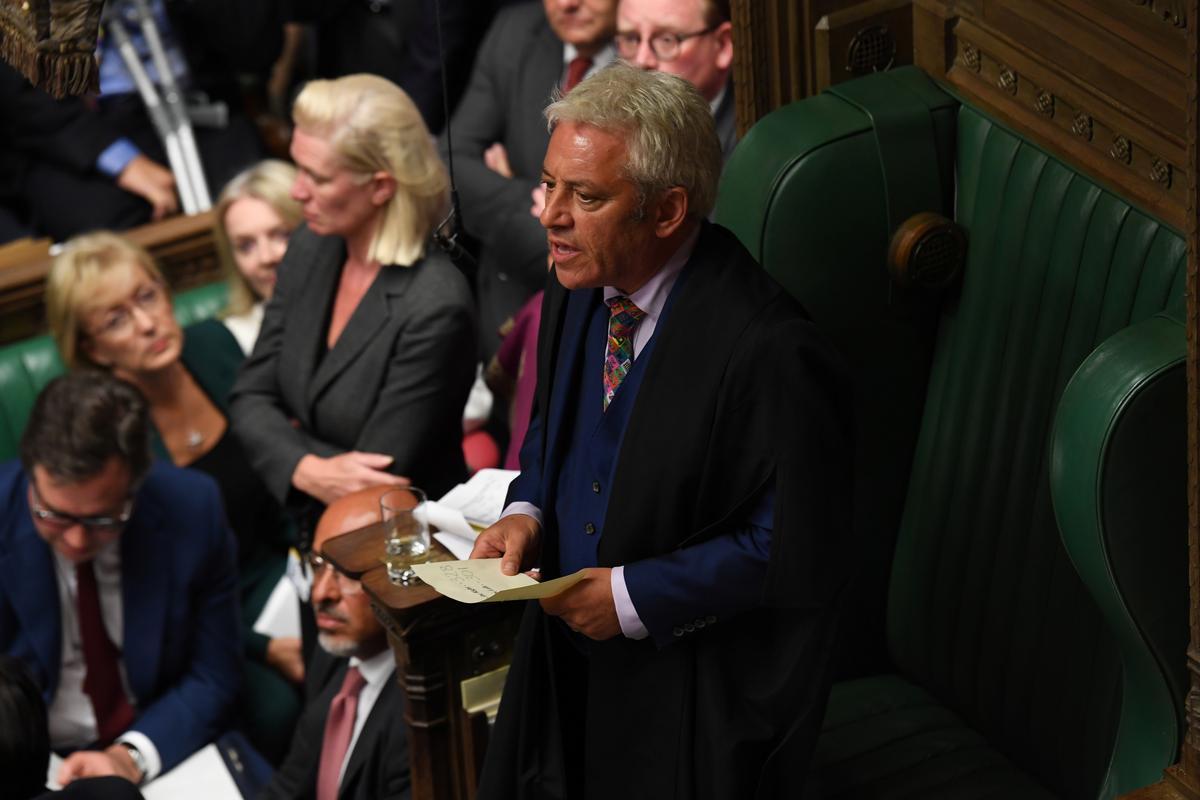John Bercow, speaker van die Britse parlement, kondig aan dat hy gaan ophou