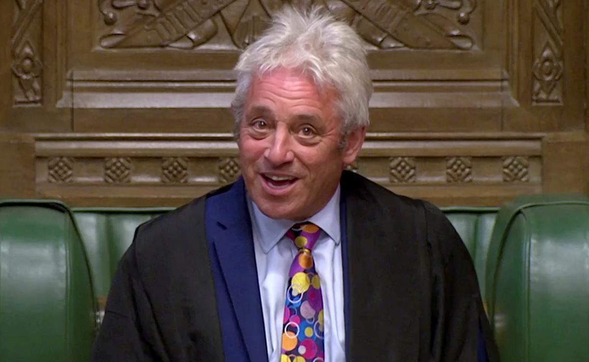 Die speaker Bercow, kampioen van die Britse parlement in botsing met Johnson, buig uit