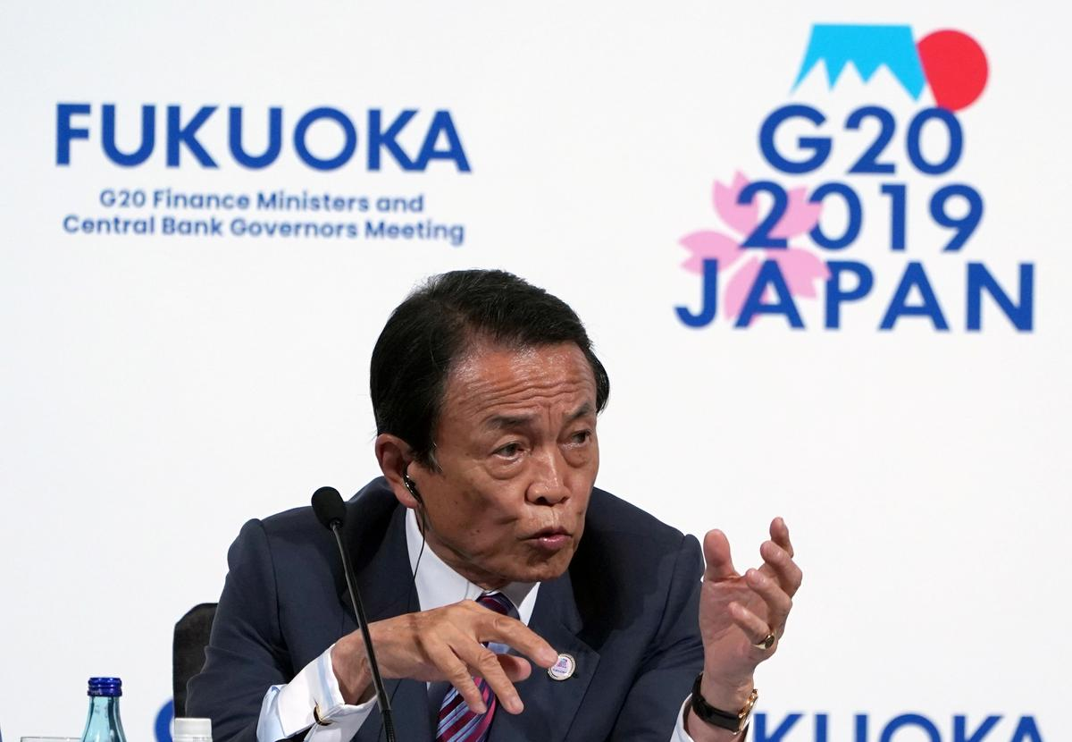 Japan finance finister Aso - Economy remains in moderate recovery