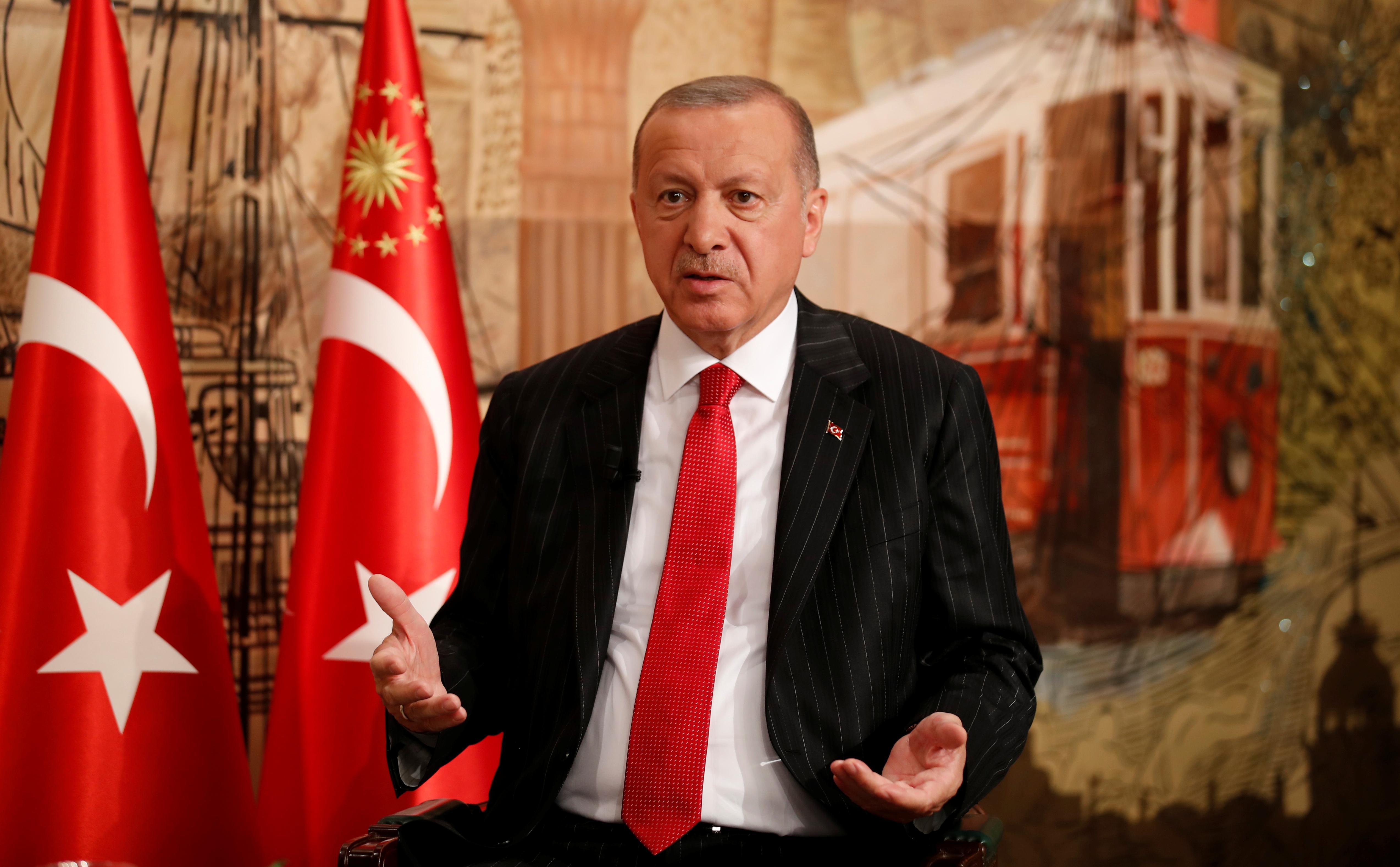 Exclusive: Turkey's Erdogan says to discuss with Trump buying U.S. Patriot missiles