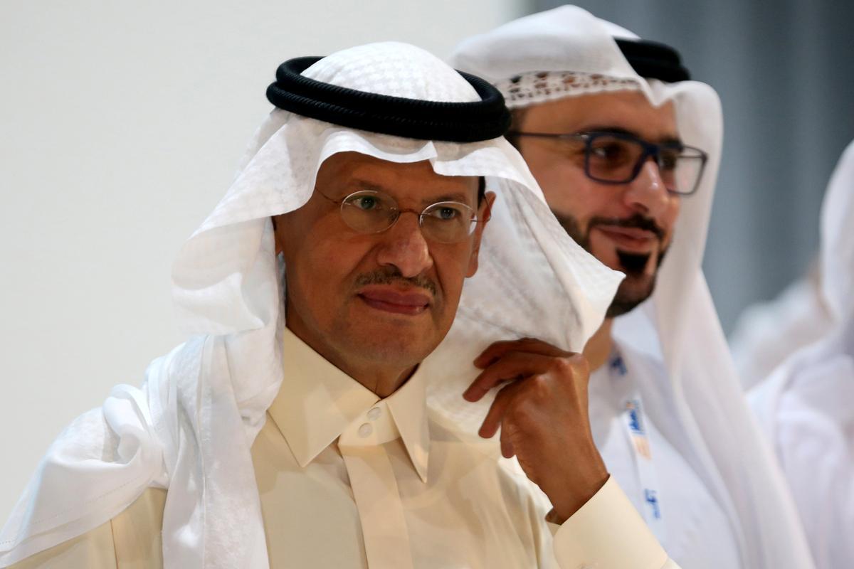 Saoedi-minister van energie hou Dinsdag perskonferensie
