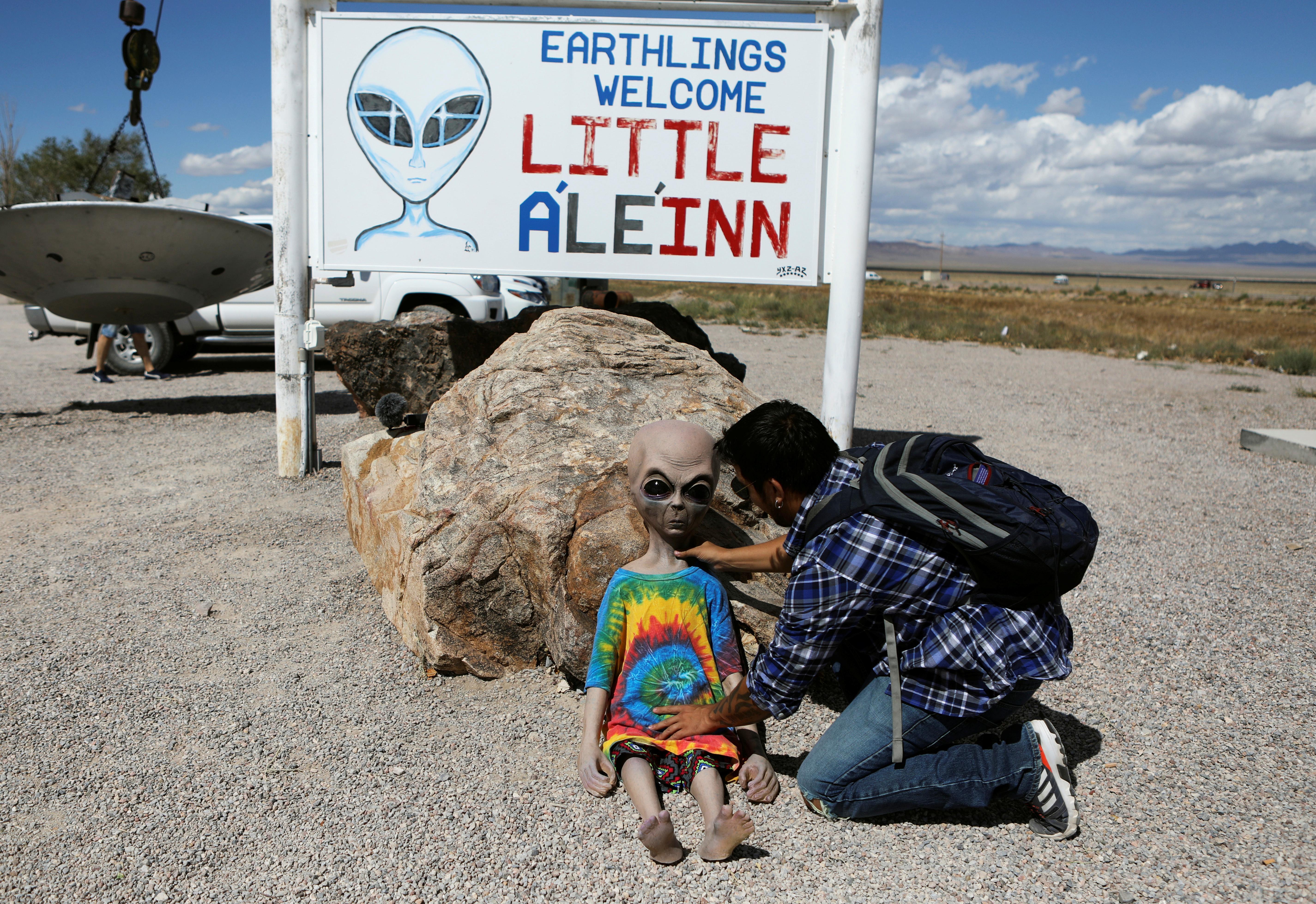Alien enthusiasts descend on Nevada desert near secretive U.S. base