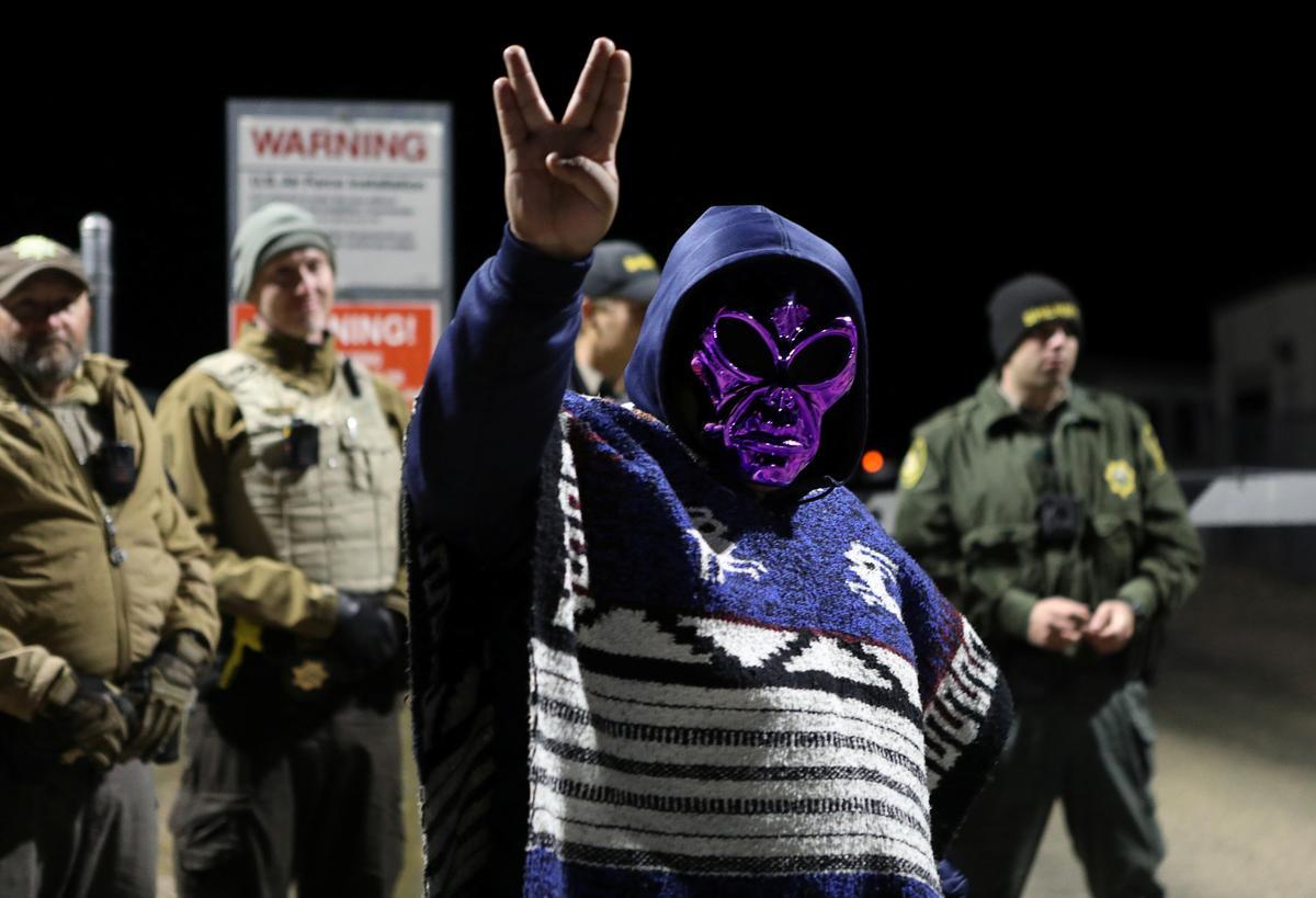Area 51 raid lures festive UFO hunters to Nevada desert; five arrested
