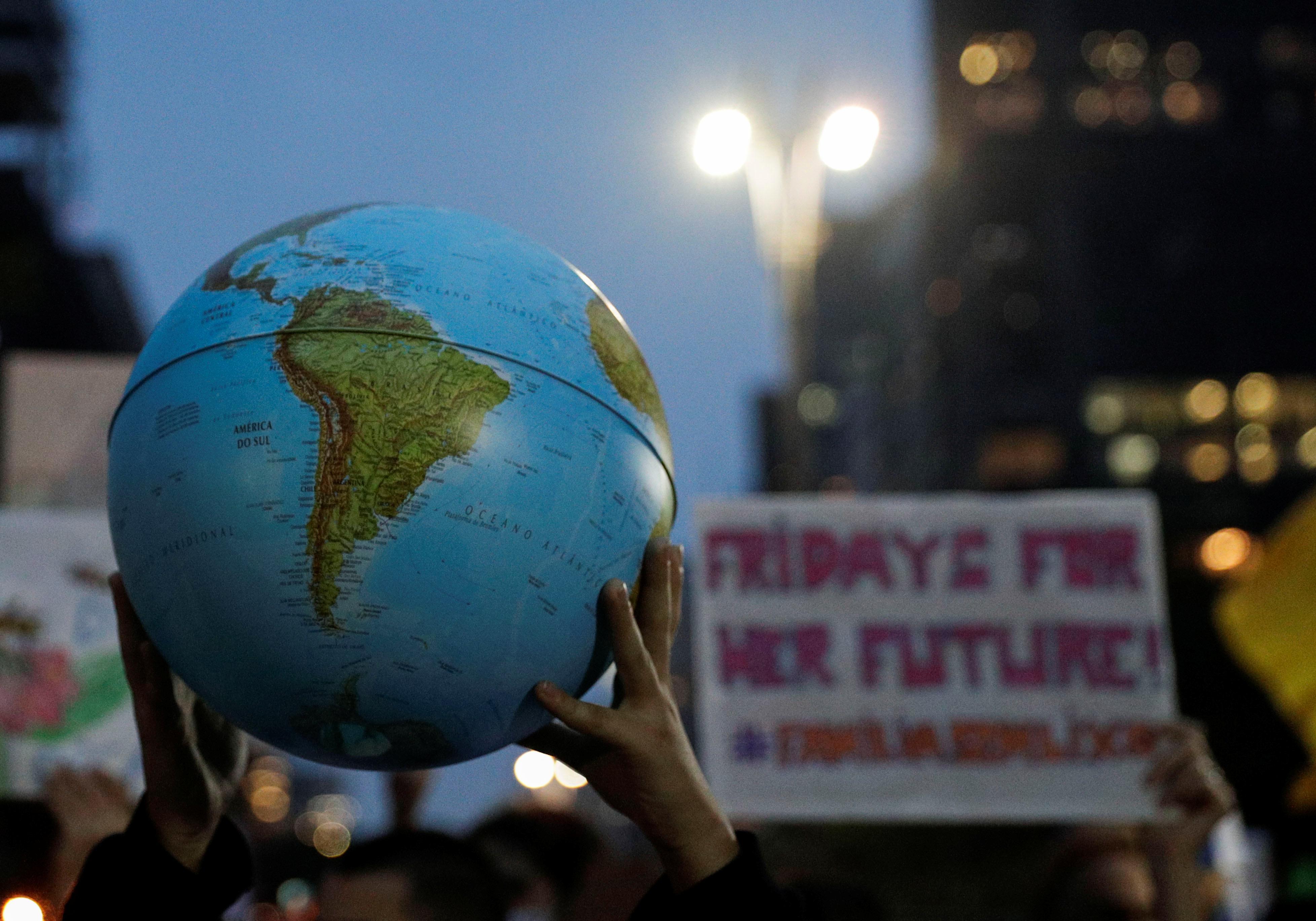 Brazilian climate strikers take aim at Bolsonaro for Amazon fires