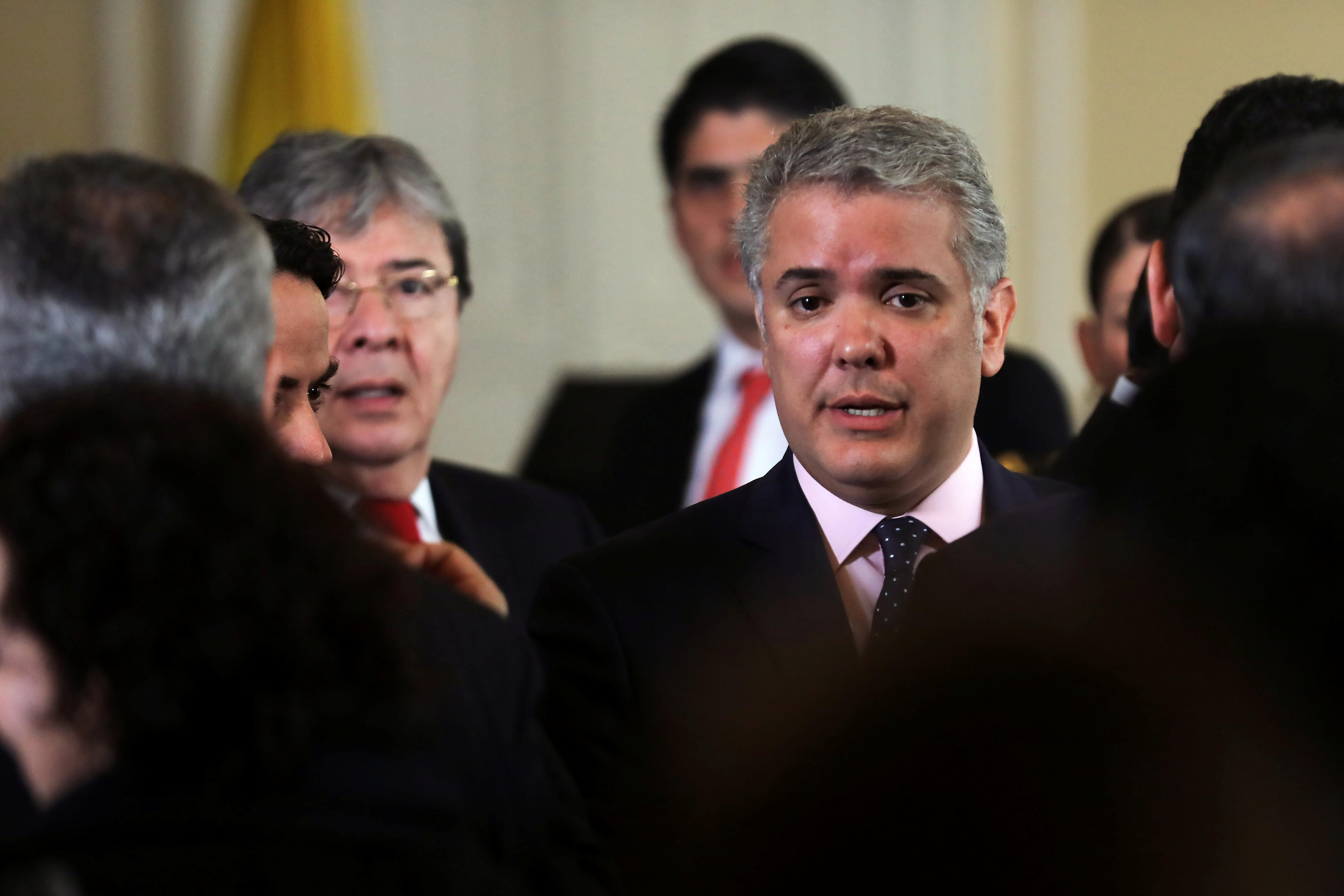 Colombia's Duque seeks international sanctions on Venezuela to...