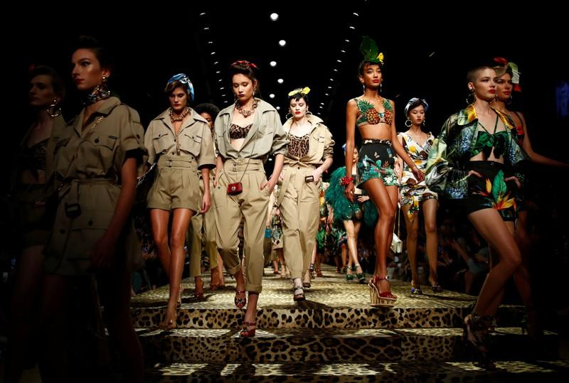 Dolce & Gabbana takes fashionistas on a jungle trek at Milan show