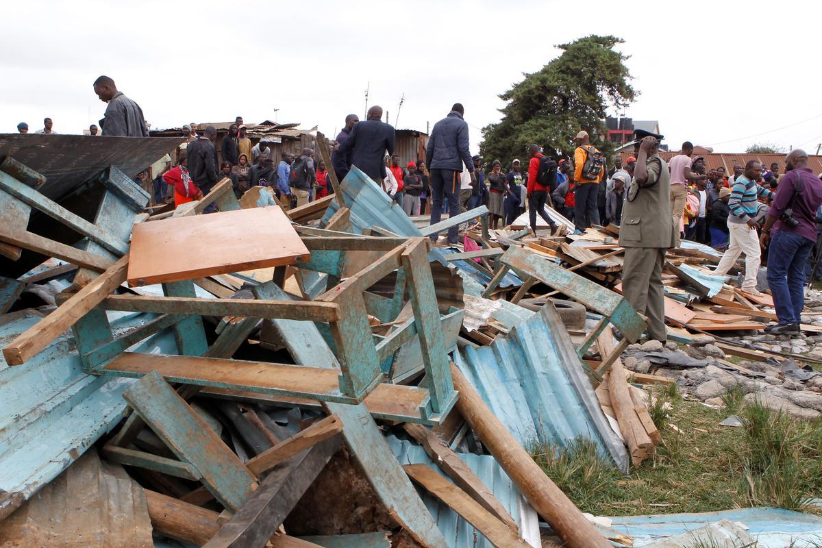 In Kenia se klaskamer val sewe kinders dood, minstens 57 beseer