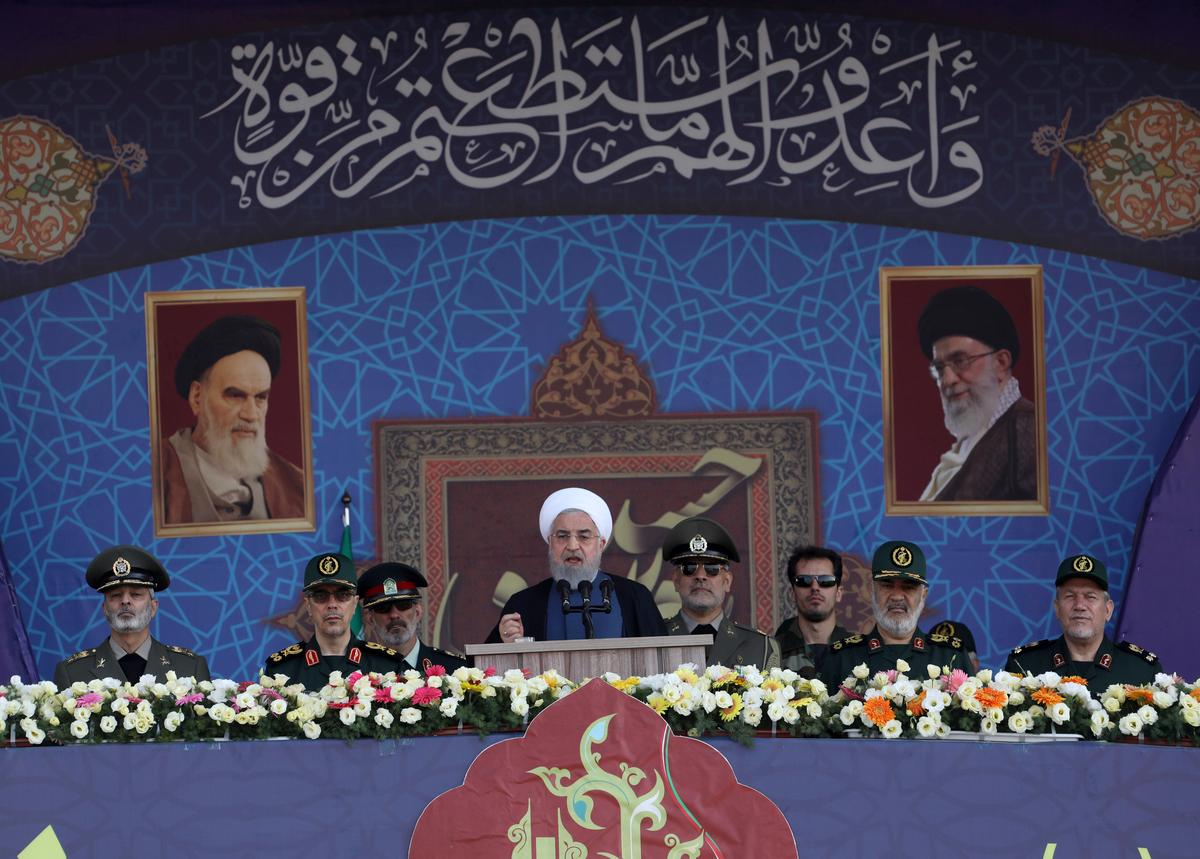 Iran resists sanctions, U.S. is 'desperate,' Rouhani says