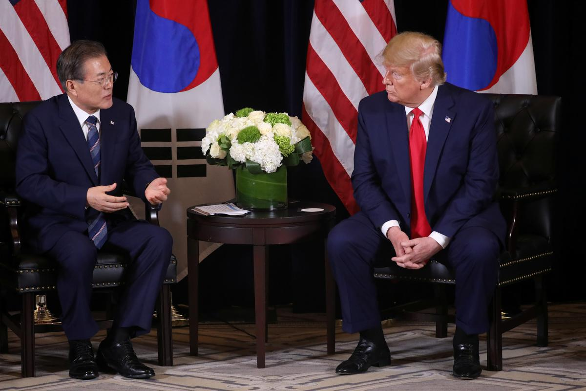 Trump discusses North Korea with South's Moon, asks what a third Kim summit would yield
