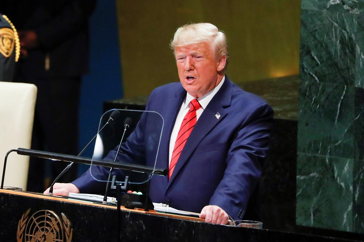 Trump calls on nations to reject globalism, embrace nationalism