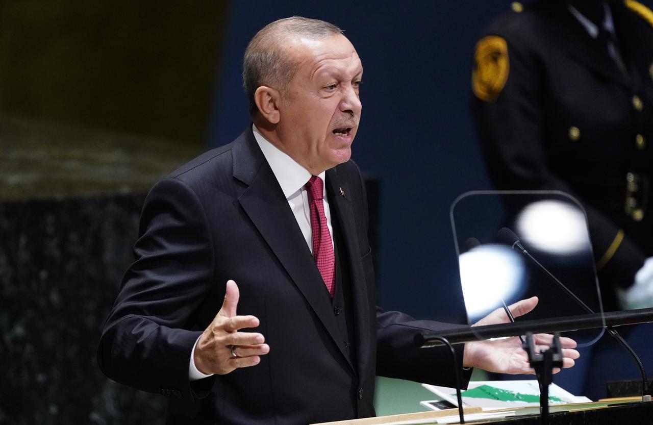 राष्ट्रपति रेसेप तैयप एदरेगान ने संयुक्त राष्ट्र में कश्मीर का मुद्दा