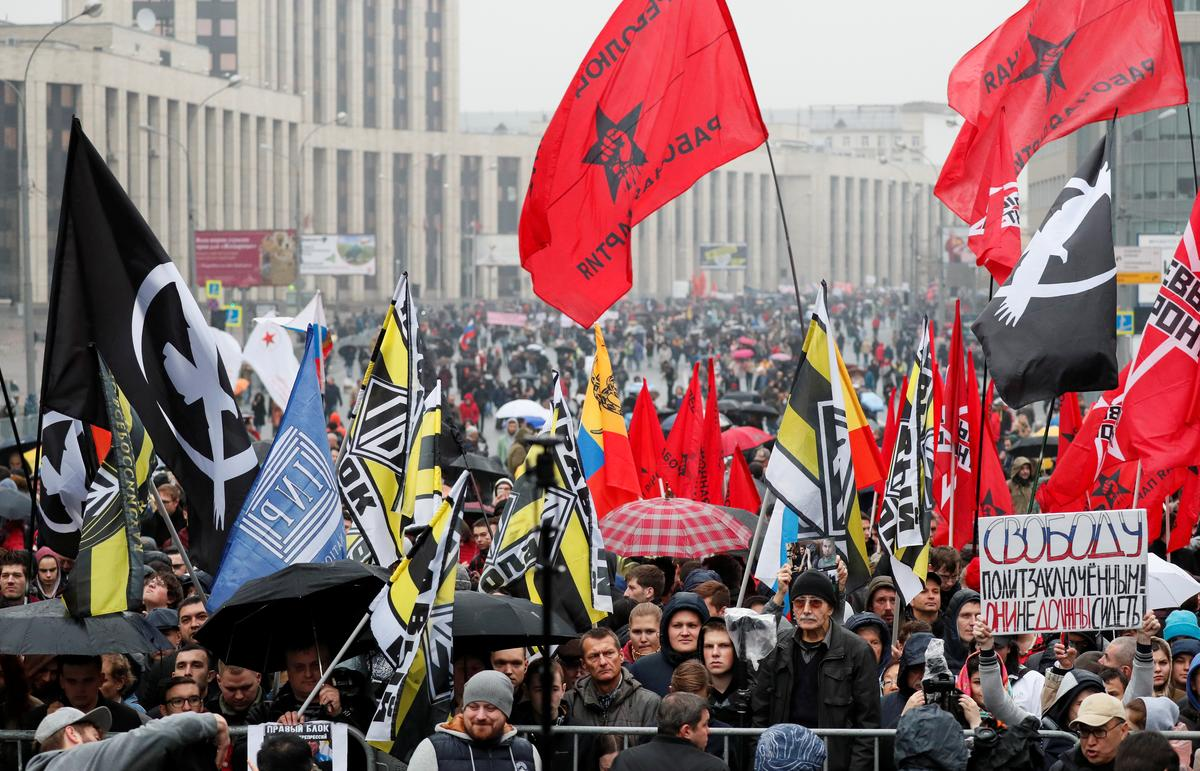 Moscow rally draws 9,000 people: protest monitor - Reuters